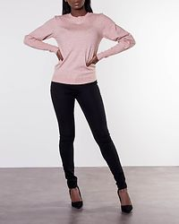 Karis O-Neck Balloon Blouse Misty Rose