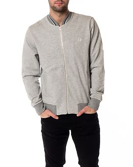 Bomber Neck Sweat Vintage Grey Marl