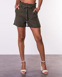 Endi Belted Shorts Olive Night