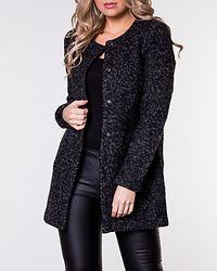 Sidney Boucle Wool Coat Black Melange