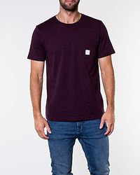 Square Pocket T-Shirt Wine