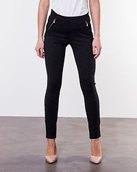 Strong Zip Ankle Pants Dark Grey Melange