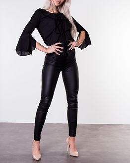 Alexis Ruffle Shirt Black