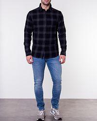 Regcarter Shirt Check Dark Navy/Grey