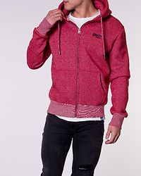 Orange Label Classic Zip Hood Red Twill