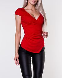 Soprano Wrap Top Red