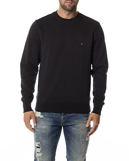 Basic Crew Neck Sweat Flag Black