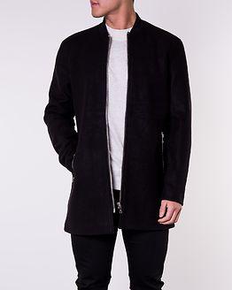 Calvin Zip Wool Jacket Black