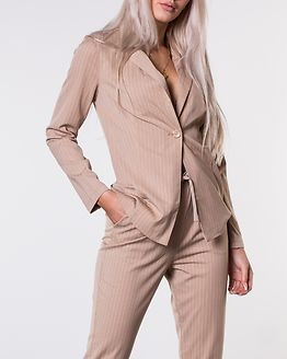 Disa Soft Blazer Beige/White/Striped