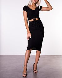 Malka Midi Skirt Black