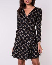 Sonnet Mini Wrap Dress Black