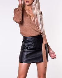 Jenna Wrap Knit Mocha Biscue/Lurex