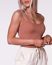 Lacey Rib Bodysuit Mocha Mousse