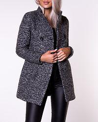 Sophia Boucle Wool Coat Dark Grey Melange