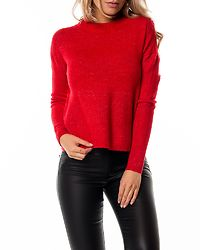 Rana O-Neck Blouse Chinese Red