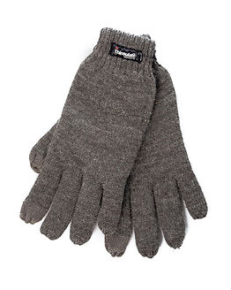 Multi Knit Gloves Grey Melange