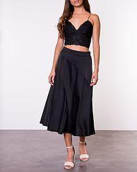 Gabbi Calf Skirt Black