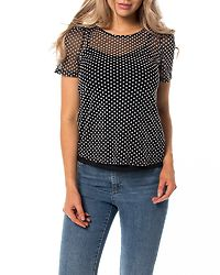 Sofie Top Black/Snow White Dots