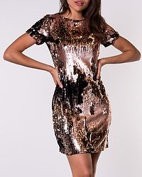 Colette Multi Sequin Mini Dress Bronze