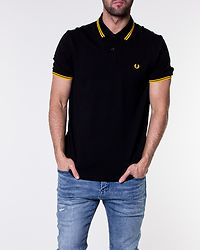 Twin Tipped Fred Perry Shirt Black/New Yellow