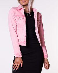 Pink Colored Denim Jacket
