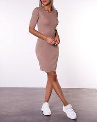 Bosta 2/4 Sleeve Knit Dress Humus