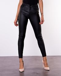 Sophia Skinny Coated Pants Black Coat