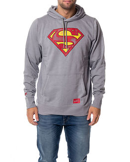 Retro Superman Triblend Hoody Steel