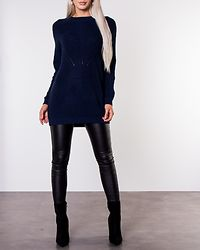 Portia Long Pullover Knit Sky Captain/Melange