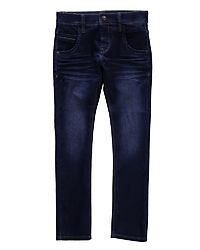 Nittax Slim Pant Dark Blue Denim