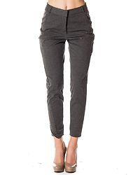 Victoria Antifit Ankle Pants Dark Grey Melange