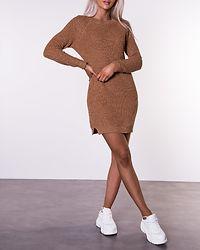 Siesta O-Neck Knit Dress Camel/Melange