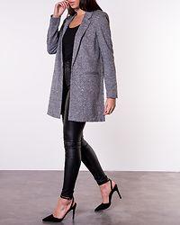 Janey Long Blazer Dark Grey Melange