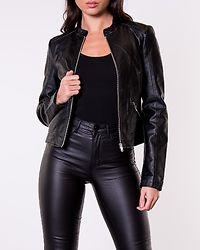 Khloe Favo Coated Jacket Black