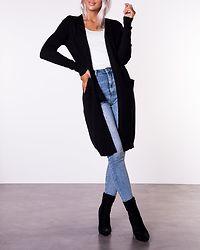 Ril Long Knit Cardigan Black