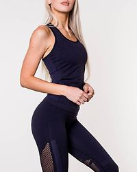 Tank Top Seamless Navy Melange