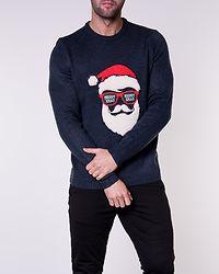 Xmas 7 Funny Badge Jaquard Knit Blue Nights/Santa Sunglasses