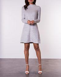 Kleo Long Sleeve Knit Dress Light Grey Melange