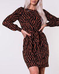 Liz Dress Black/Cinnamon