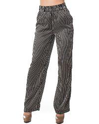 Felicia Straight Pants Bright White/Black