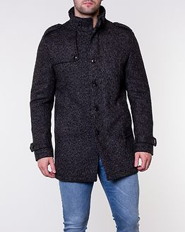 Covent Wool Coat Black/White