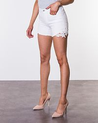 Be Seven Crochet Shorts Bright White