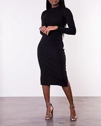 Harriet High Neck Dress Black