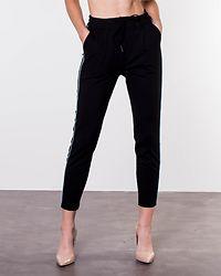 Eva Loose String Piping Pants Black/Smoke Blue