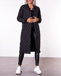 Jessica X-Long Quilted Coat Black