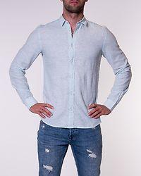 Caiden Solid Linen Shirt Aquatic