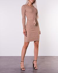 Paige Skinny Rib Dress Camel Melange