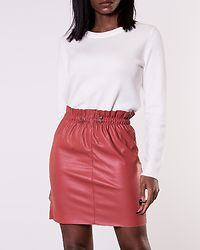 Awardsif Short Coated Skirt Marsala