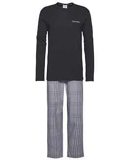 PJ Pant & L/S Crew Aviemore Plaid White/Black