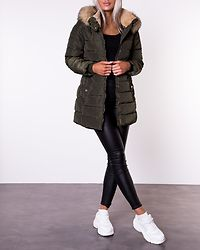 Camilla Quilted Coat Forest Night
